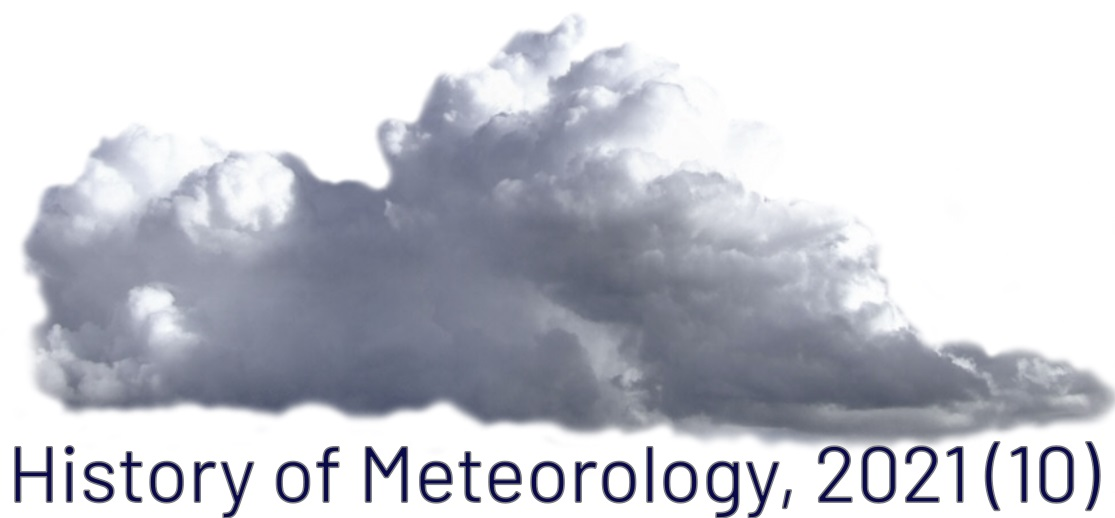 Cloud with text underneath saying History of Meteorology 2021